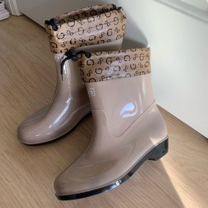 Rain boots with faux fur/winter boots